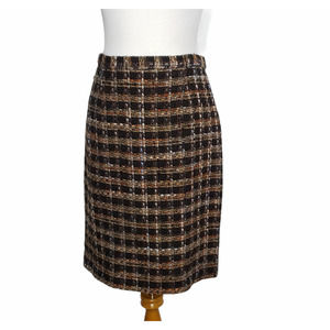 Bloomingdale's Tweed Career Skirt Classic Neutrals